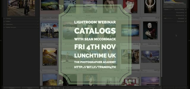 I'm giving a free webinar next Friday lunchtime at 1pm UK for The Photographer Academy. It's all about Lightroom Catalogs, from catalog anatomy, import and export, backup and even dealing...